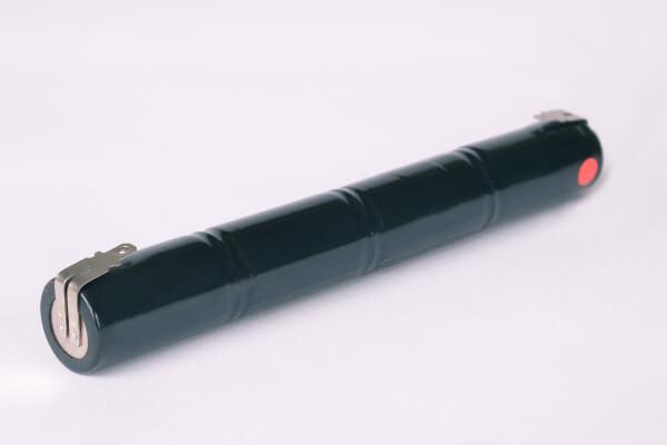 Akkupack Notlicht Notbeleuchtung 4,8V / 1500mAh (1,5Ah) Stabform mit Faston Anschlüssen