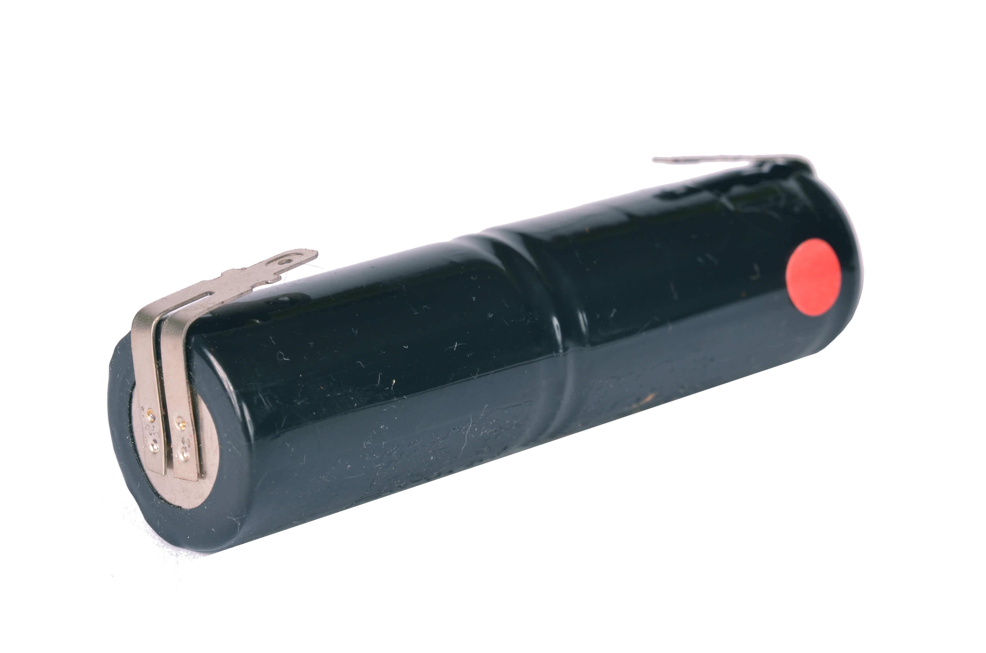 Akkupack Notlicht Notbeleuchtung 2,4V / 1500mAh (1,5Ah) Stabform mit Faston Anschlüssen