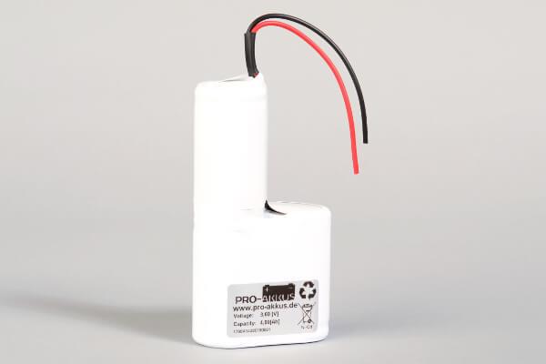 Ni-Cd Akkupack Notlicht Notbeleuchtung 3,6V / 4000mAh (4,0Ah) F2+F1 Reihe mit Kabel