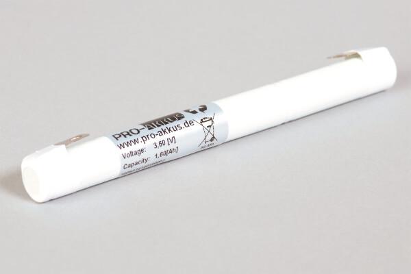 Ni-Mh Akkupack Notlicht Notbeleuchtung 3,6V / 1600mAh (1,6Ah) 3xAA-Zellen L3x1 Stab, Faston Anschlüsse