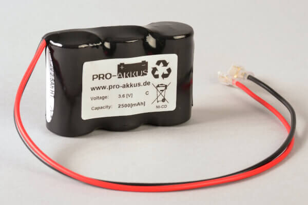 Ni-Cd Akkupack 3,6V / 2,5Ah passend für HoLi Notbeleuchtung Art. Z-0430.1