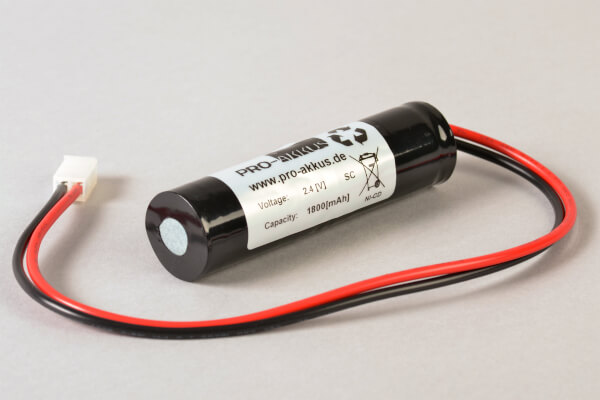 NiCd Akku 2,4V / 1800mAh kompatiblel zu Art. 98100103 Notleuchtenakku