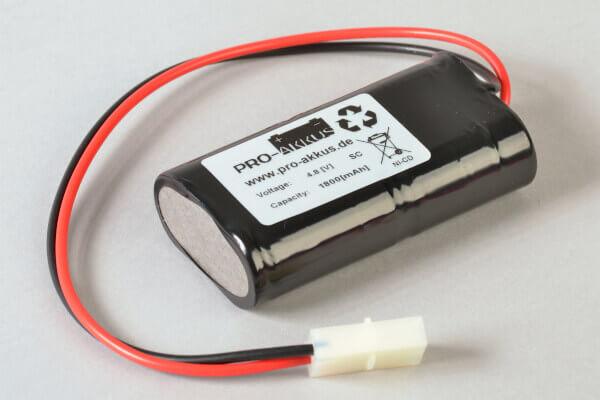 NiCd Notbeleuchtung Akku 4,8V / 1800mAh passend für Candelux BA 4 EX BDI RE / 812 001 409