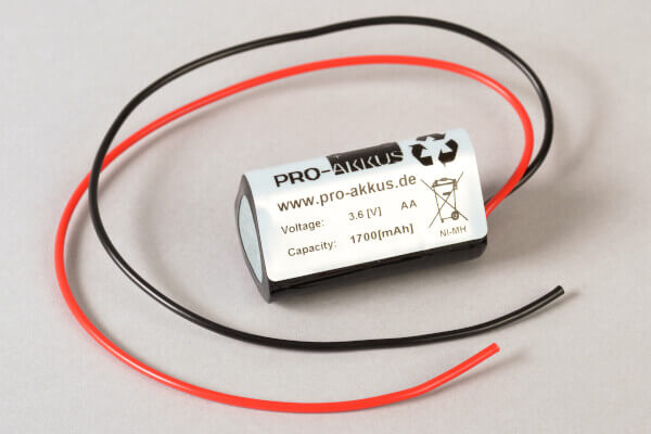 NiMh Notbeleuchtung Akku 3,6V / 1700mAh als Dreieck mit Kabel