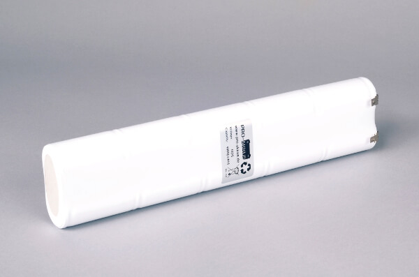 Ni-Cd Akkupack Notlicht Notbeleuchtung 12V / 4000mAh (4,0Ah) L5x2 Stab, Faston Anschlüsse