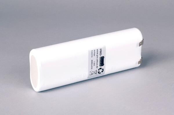Ni-Cd Akkupack Notlicht Notbeleuchtung 7,2V / 4000mAh (4,0Ah) L3x2 Stab, Faston Anschlüsse