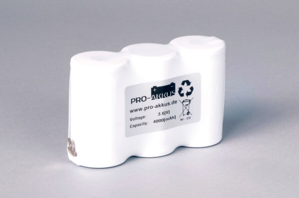 Ni-Cd Akkupack Notlicht Notbeleuchtung 3,6V / 4000mAh (4,0Ah) F3x1 Reihe, Faston Anschlüsse