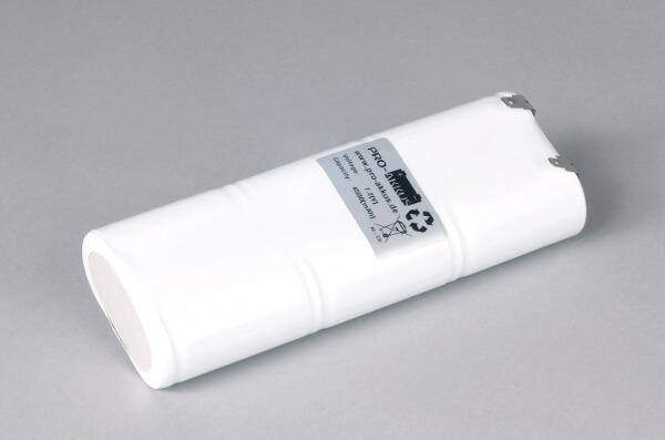 Ni-Cd Akkupack Notlicht Notbeleuchtung 7,2V / 4500mAh (4,5Ah) L3x2 Stab, Faston Anschlüsse
