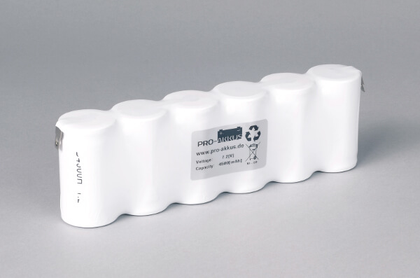 Ni-Cd Akkupack Notlicht Notbeleuchtung 7,2V / 4500mAh (4,5Ah) F6x1 Reihe, Faston Anschlüsse