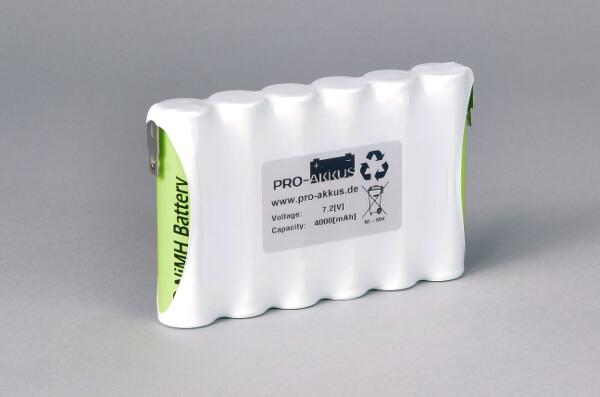 Ni-Mh Akkupack Notlicht Notbeleuchtung 7,2V / 4000mAh (4Ah) F6x1 Reihe, Faston Anschlüsse