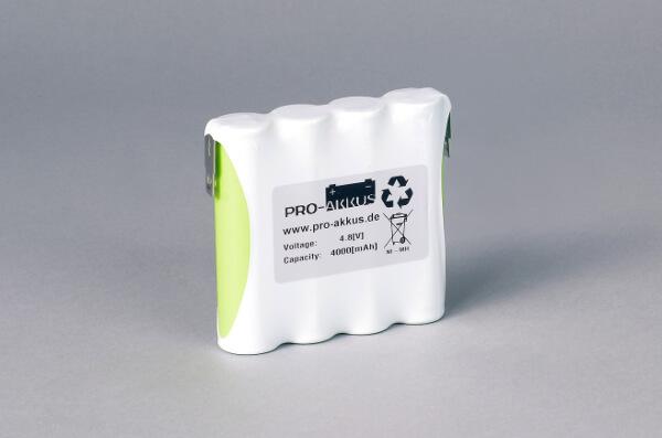 Ni-Mh Akkupack Notlicht Notbeleuchtung 4,8V / 4000mAh (4Ah) F4x1 Reihe, Faston Anschlüsse