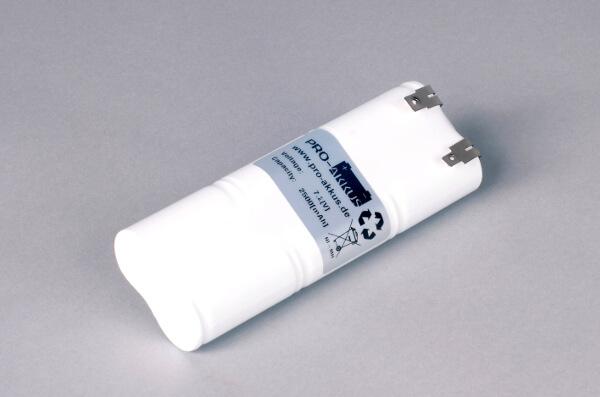 Ni-Mh Akkupack Notlicht Notbeleuchtung 7,2V / 2500mAh (2,5Ah) L3x2 Stab, Faston Anschlüsse