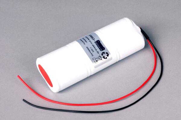 Ni-Mh Akkupack Notlicht Notbeleuchtung 7,2V / 4000mAh (4,0Ah) C L3x2 Stab mit Kabel