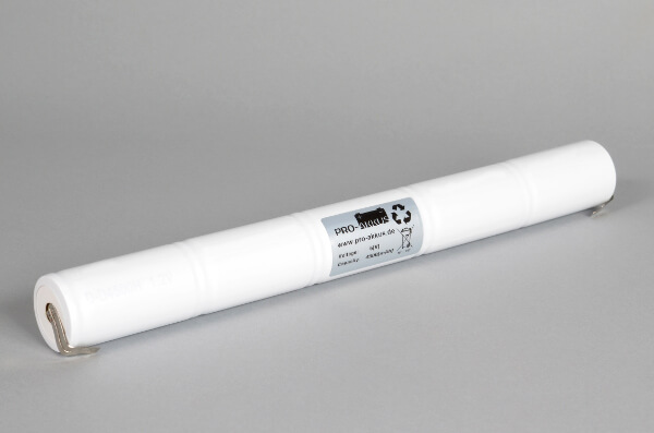 Ni-Cd Akkupack Notlicht Notbeleuchtung 6,0V / 4500mAh (4,5Ah) L5x1 Stab, Faston Anschlüsse