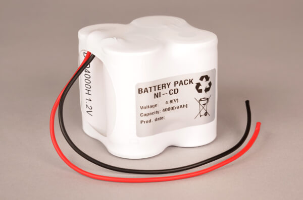 Akkupack Notlicht Notbeleuchtung 4,8V / 4000mAh (4,0Ah) 2x 2er Reihe mit Kabel