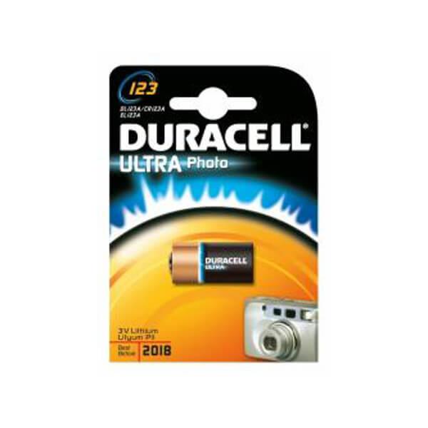 Duracell Lithium Batterie DL123A / CR123A / EL123A 3V 1,3Ah Rundzelle