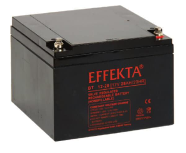 Effekta BT12-28 12V 28Ah Blei-Akku / AGM Batterie