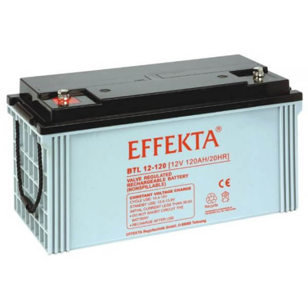 Effekta BTL12-120 12V 120Ah Blei-Akku / AGM Batterie