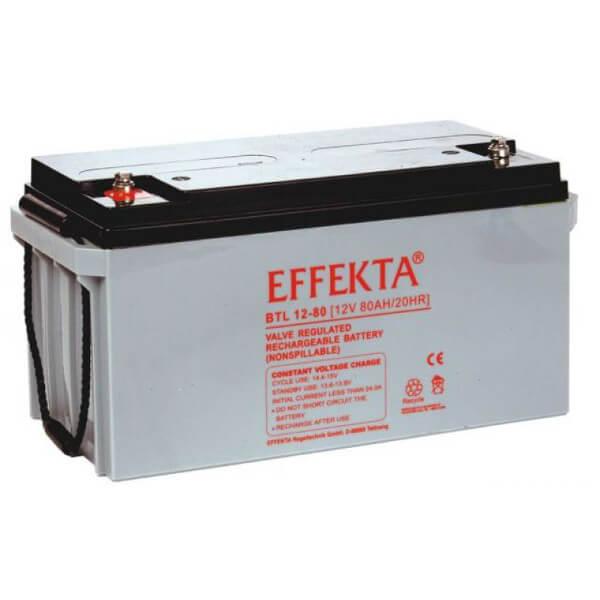 Effekta BTL12-80 12V 80Ah Blei-Akku / AGM Batterie