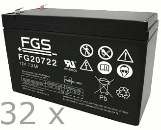 Batteriesatz für APC SU DP6000 + SU DP6000i (high quality)