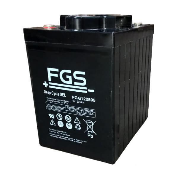 FGS FGG122505 6V 225Ah Blei-Akku / Gel Batterie Zyklentyp
