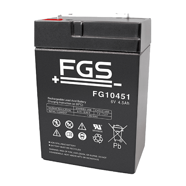 FGS FG10451 6V 4,5Ah Blei-Akku / AGM Batterie