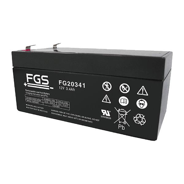 FGS FG20341 12V 3,4Ah Blei-Akku / AGM Batterie