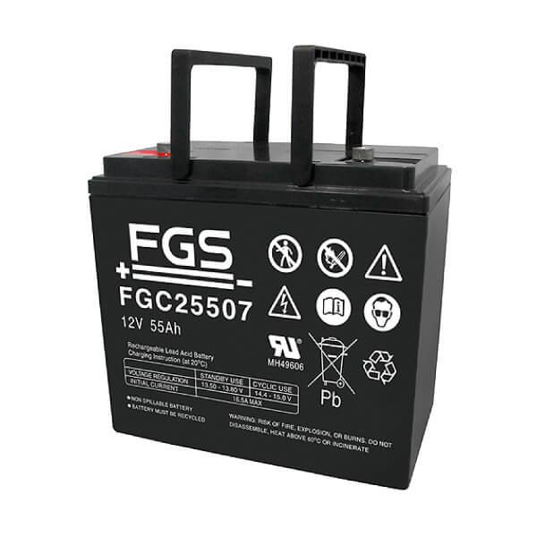 Ersatzbatterien für Sterling S425 Elektromobil - 2 x 12V 55Ah VRLA-AGM Akku Zyklentyp wartungsfrei