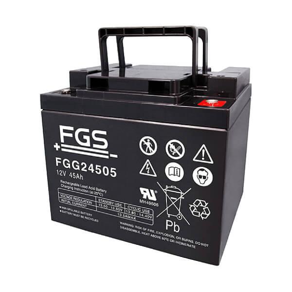 FGS FGG24505 12V 45Ah Blei-Akku / Gel Batterie Zyklentyp