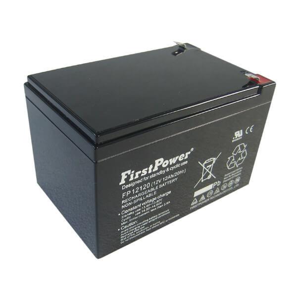 FirstPower FP12120 12V 12Ah 4,8mm Blei-Akku / AGM Batterie VdS