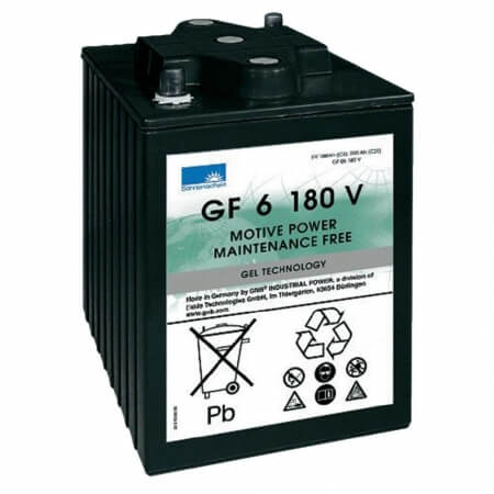 Blei-Gel Akku für Kehrsaugmaschine Tennant 6200 - 6V 180Ah zyklenfest
