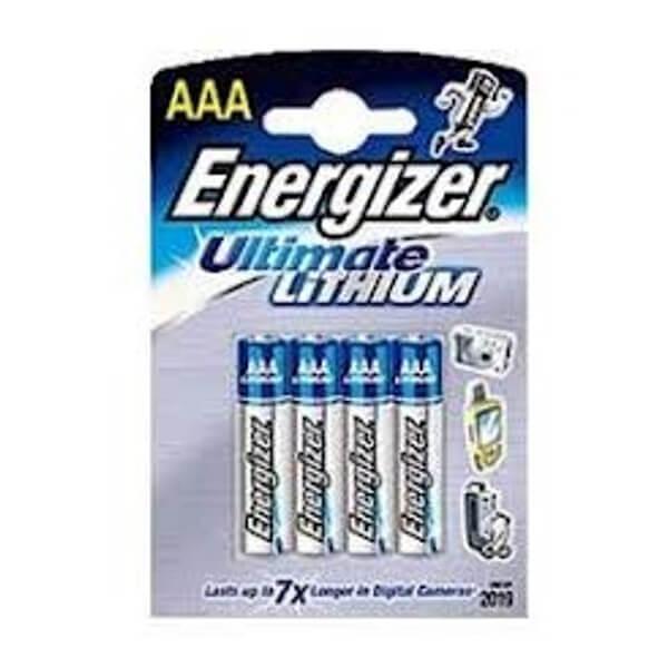ENERGIZER L92 LITHIUM RUNDZELLE 1,5V 1300mAh 4er Blister Micro AAA