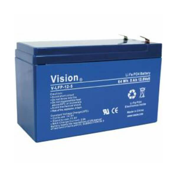 VISION LFP124.5 LiFePo4  Lithium Akku - 12V 5Ah
