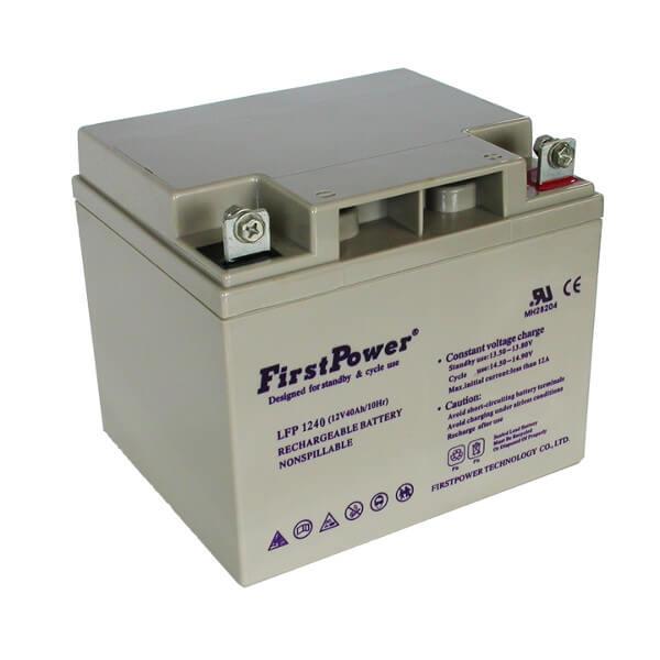 FirstPower LFP1240 12V 40Ah Blei-Akku / AGM Batterie