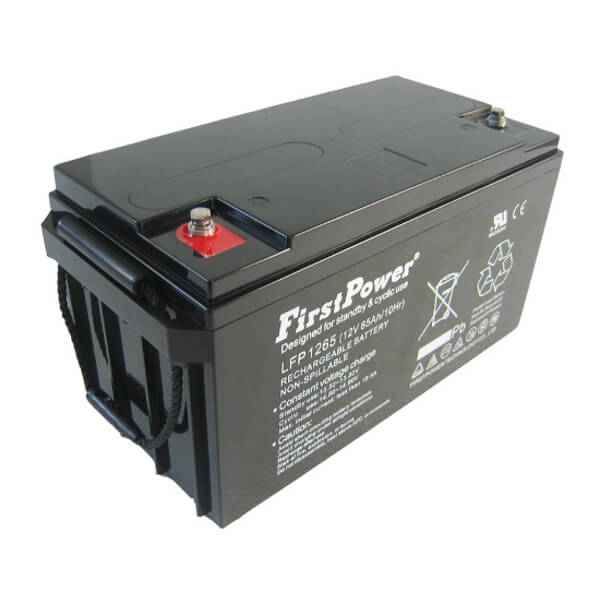 FirstPower LFP1265 12V 65Ah Blei-Akku / AGM Batterie