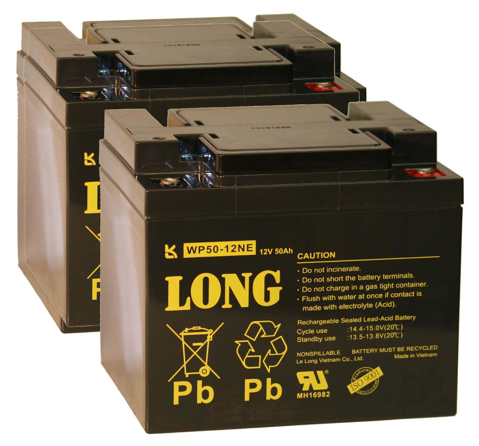 Ersatzbatterie Set für E-Rollstuhl ORTOPEDIA Ortocar 3/4 exklusiv - 2x 12V 50Ah