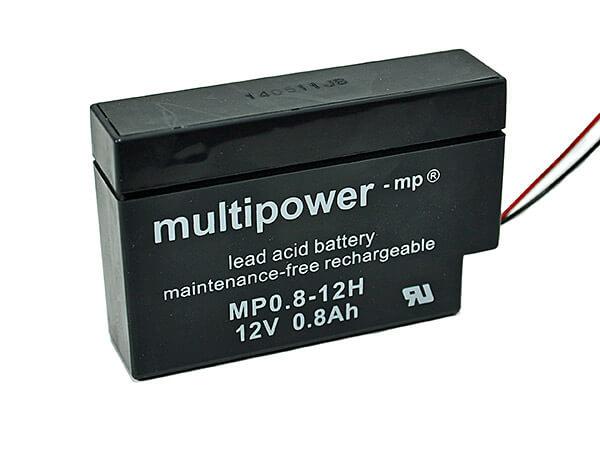 Multipower MP0.8-12H 12V 0,8Ah Blei-Akku / AGM Batterie