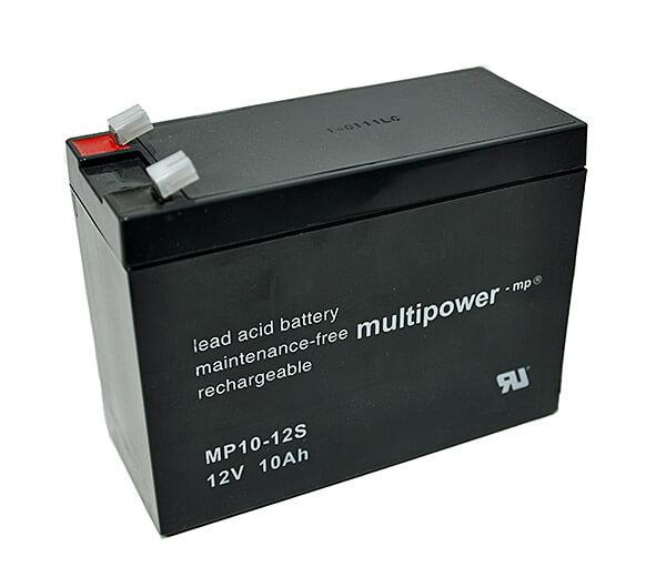 Multipower MP10-12S 12V 10Ah Blei-Akku / AGM Batterie