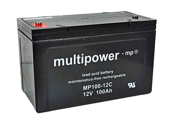Multipower MP100-12C 12V 100Ah Blei-Akku / AGM Batterie Zyklenfest