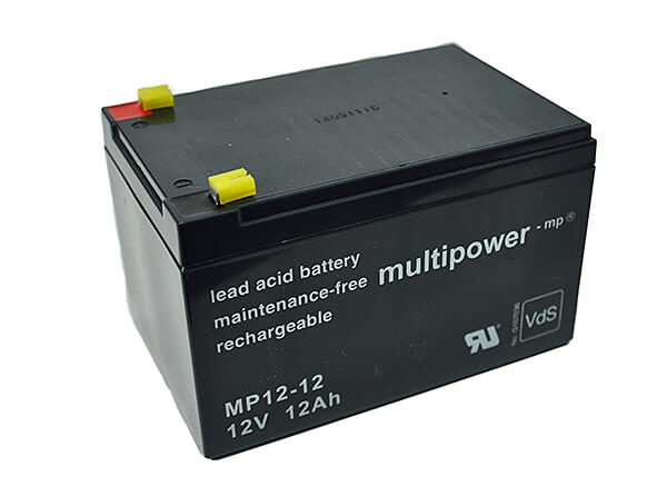 Multipower MP12-12 VdS 12V 12Ah Blei-Akku / AGM Batterie