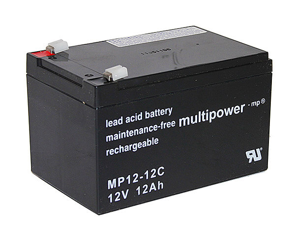Multipower MP12-12C 12V 12Ah Blei-Akku / AGM Batterie Zyklenfest