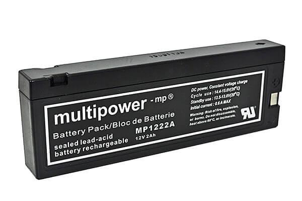 Multipower MP1222A 12V 2Ah Blei-Akku / AGM Batterie