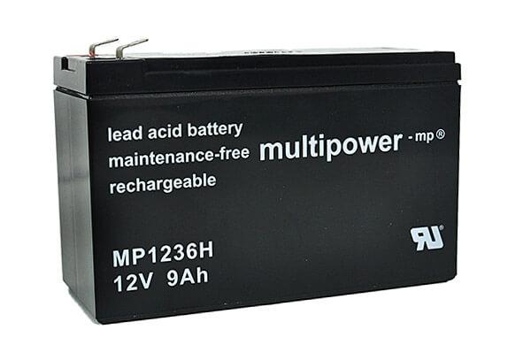 Akkusatz für Best Power Axxium RM Batt 2000/3000 USV - 8 x Multipower 12V 9Ah Hochstrom