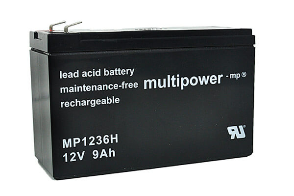Akkusatz für Best Power B610 700VA USV - 2 x Multipower 12V 9Ah Hochstrom