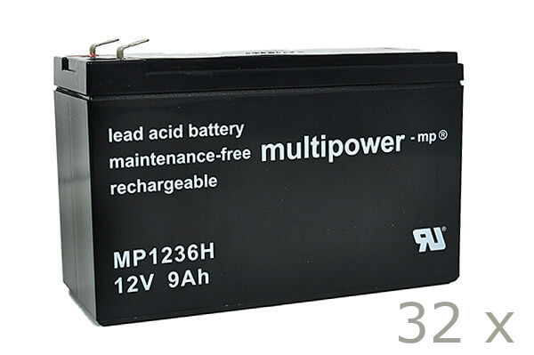 Batteriesatz für APC SU DP8000 + SU DP8000i (hochstrom)