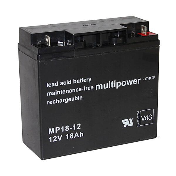 Akkusatz für DELL DL1500I USV Anlage - 2 x Multipower 12V 18Ah Akku mit VdS Zulassung