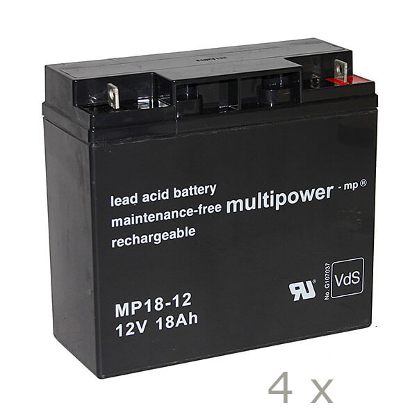 Batteriesatz für APC RBC55 (Multipower)