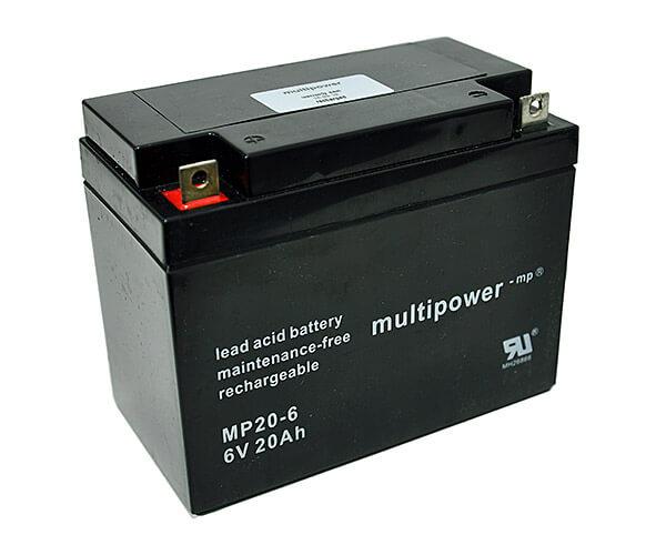 Multipower MP20-6 6V 20Ah Blei-Akku / AGM Batterie