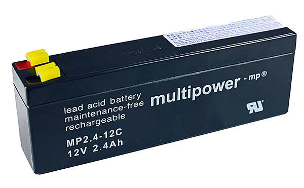 Multipower MP2.4-12C 12V 2,4Ah Blei-Akku / AGM Batterie Zyklenfest