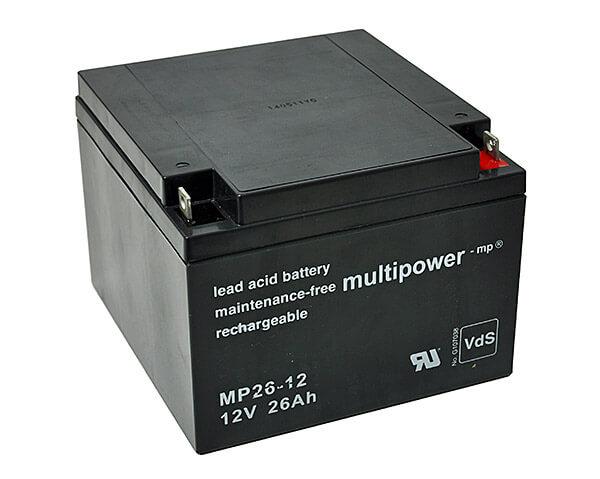 Multipower MP26-12 VdS 12V 26Ah Blei-Akku / AGM Batterie
